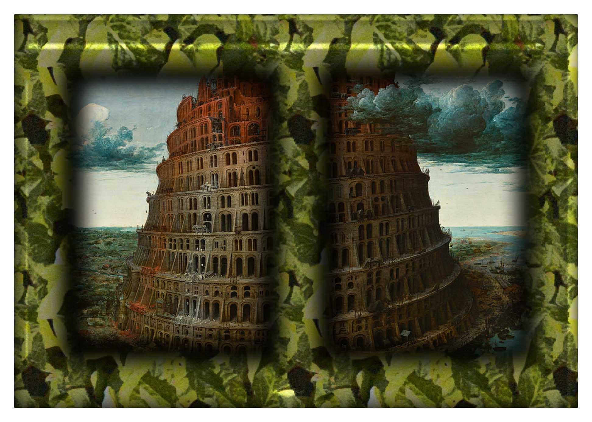 frame A Babel by Peter Brueghel the Elder