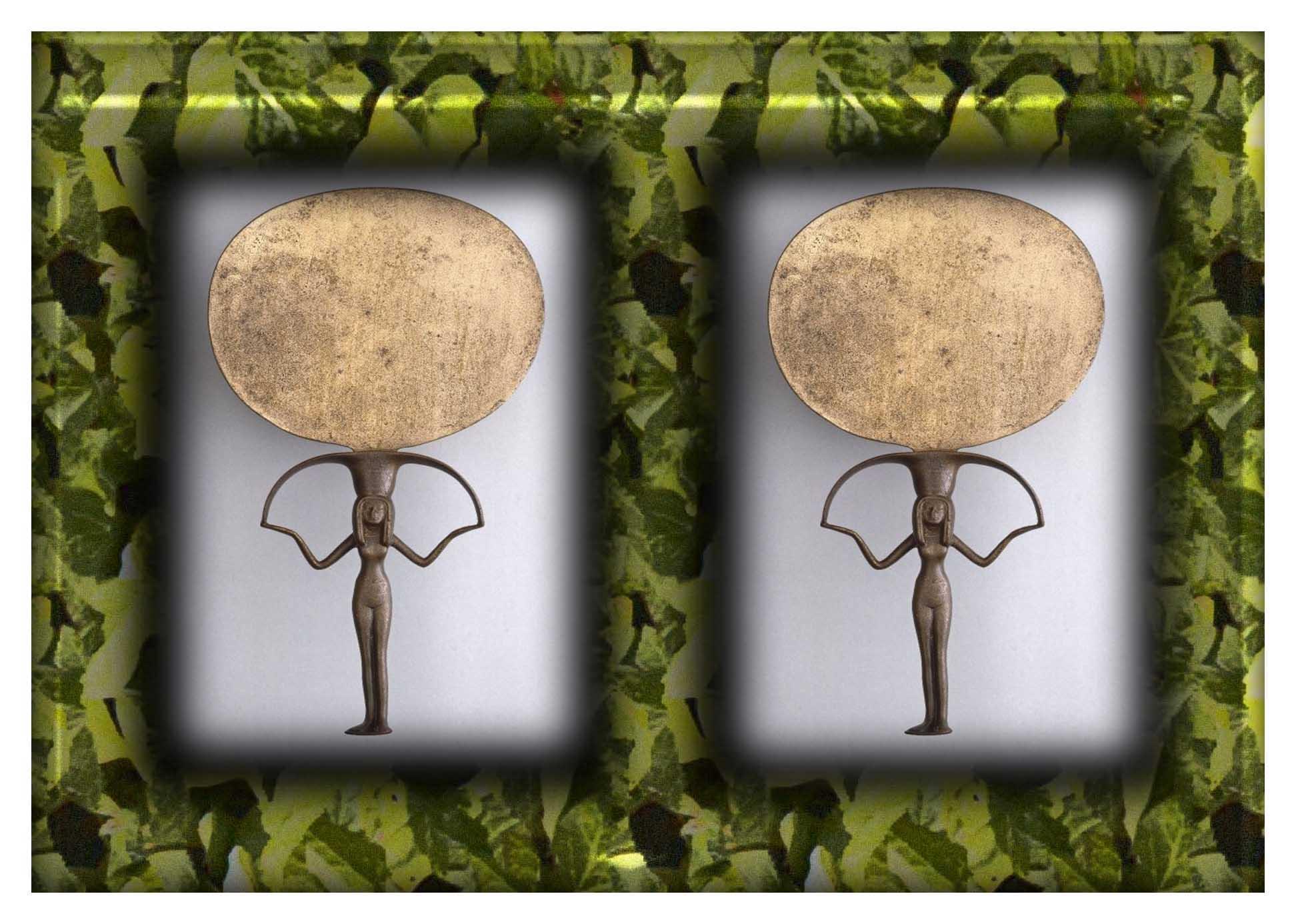 frame ancient mirror